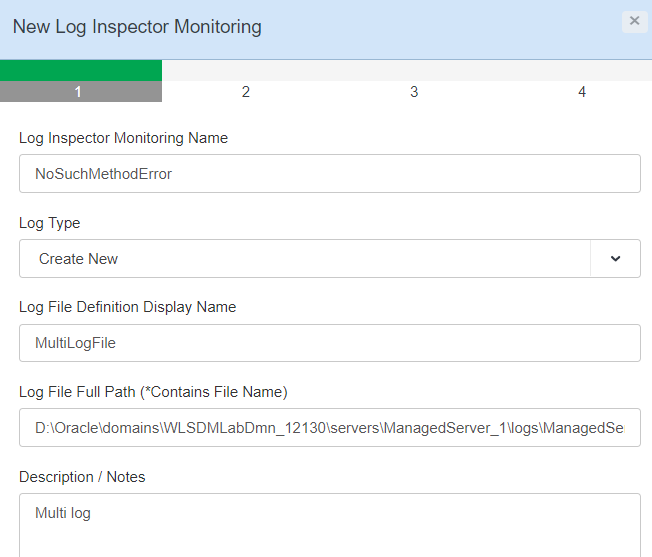 Do we have the feature in WLSDM to search same string for multiple WebLogic log files?